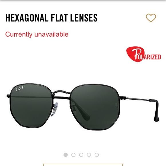 3918c55ab35f Rayban hexagonal flat lens polarized glasses